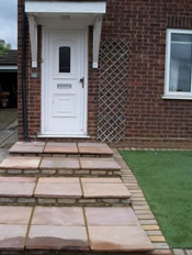 Front Garden Paving and Turfing