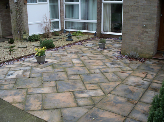Patio Conversion in Decorative Stone - Biggleswade