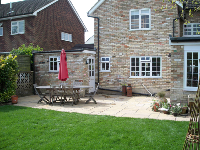 Back Garden Patio Baldock Rw Landscapes Innovative Garden And